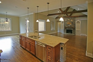 front of kitchen island