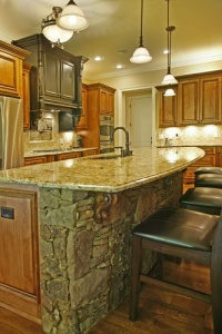 side of kitchen island